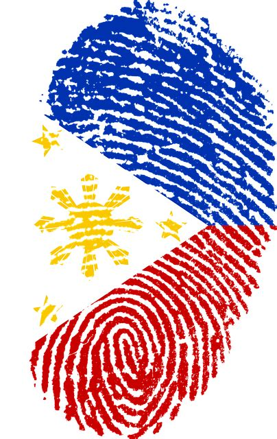 philippines flag fingerprint  image  pixabay