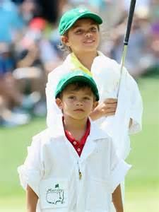 Tiger woods s kids caddy at par 3 masters tournament moms