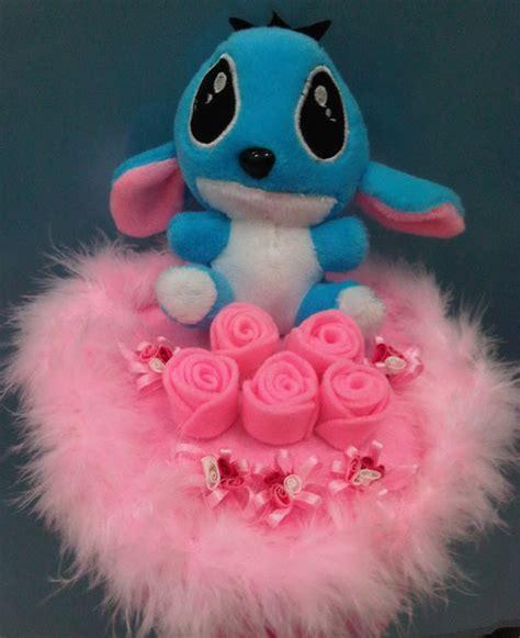 Boneka Stitch Uk L jual buket boneka stitch dan bunga pink pinkyshop