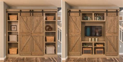 Log Cabin Plans Free by Open The Barn Doors For An Entertainment Center And Close