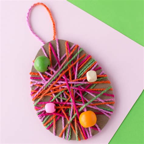 Yarn Cabinet Yarn Wrapped Easter Egg Craft