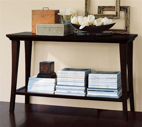 pottery barn sofa table pottery barn sofa table tivoli long console table pottery