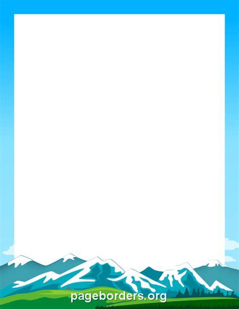 mountain border clip art page border  vector graphics