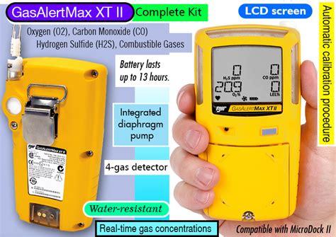 Bw Gasalertmax Xt Ii Multi Gas Detector Gasalertmax Xt Ii Review Portable Multi 4 Gas Confined