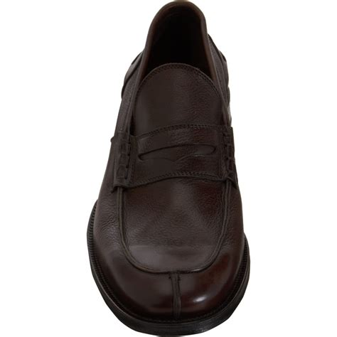 split toe loafer lyst battistoni split toe loafer in brown for