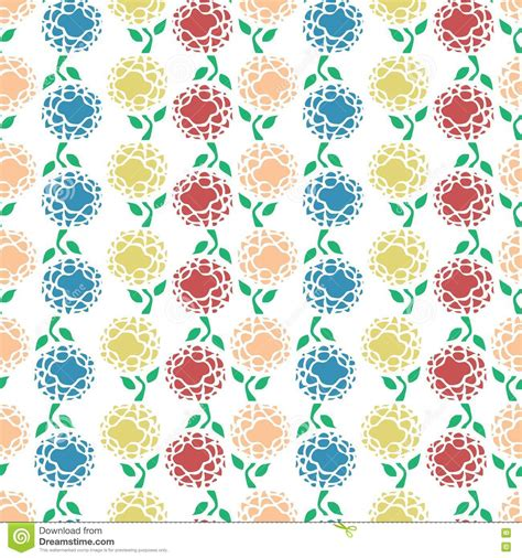 Cd Seamless Flower 3d colourful flowers repeatable pattern stock photo image