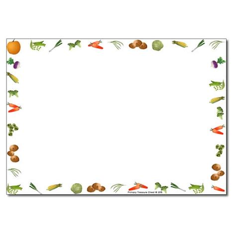 Wedding Writing Border by Vegetable Themed Landscape Page Borders Writing Frames No