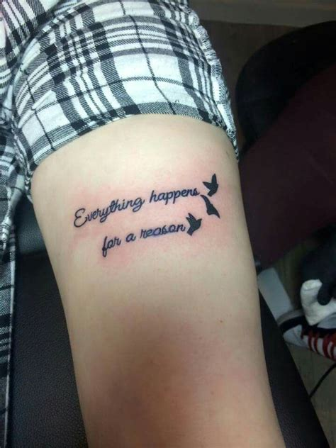 everything happens for a reason tattoo designs quot everything happens for a reason quot thy
