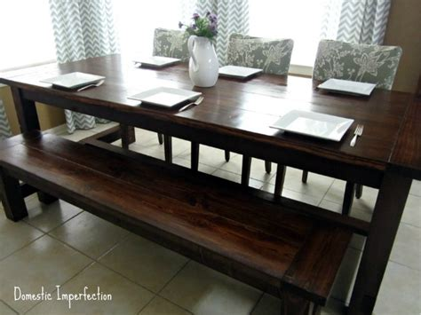 Diy Dining Room Table With Bench Pdf Diy Farmhouse Dining Table Bench Plans Finger