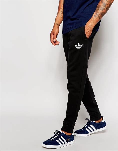lyst adidas originals joggers ab7512 in black for