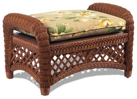 tropical furniture nara bamboo bedroom furniture sneak lanai brown wicker ottoman tropical furniture by