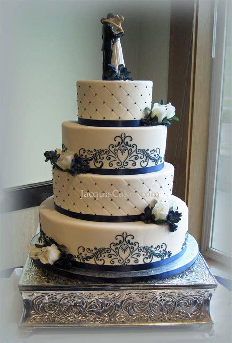 Merona Layer Cake Top Pink White Blue Orange Blue Wedding Cake On Blue Wedding