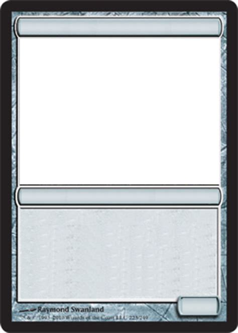 magic the gathering card template png mtg blank artifact card by growlydave on deviantart