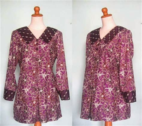 desain baju batik ibu hamil 15 model baju batik untuk kantor dan kerja terbaru