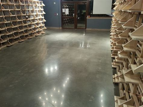wine cellar polished concrete floor by fg pf wine cellar
