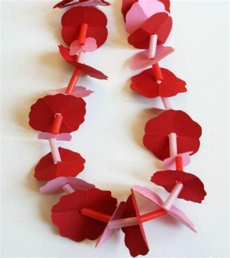 How To Make Paper Flower Leis - hawaiian paper flower allfreepapercrafts