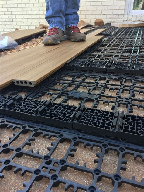 Concrete Deck Floor how to lay deck flooring on a concrete patio