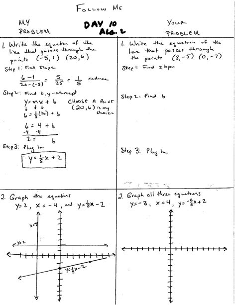 Honors Algebra 2 Worksheet Word Problems Linear Equations Answers