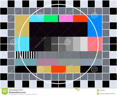 tv transmission test card royalty  stock image image