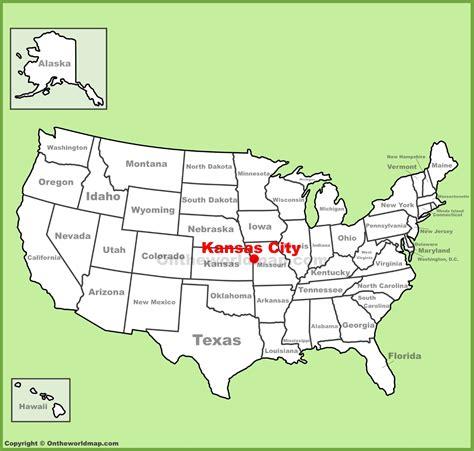 kansas city map usa kansas city location on the u s map