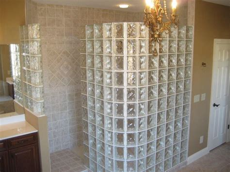 glass block bathroom designs glass blocks showers in houston texas doorless showers