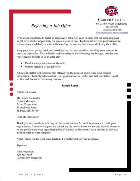Turn A Offer Letter How To Politely Turn A Offer