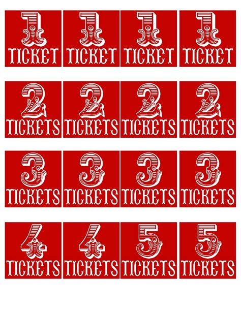 printable carnival tickets free carnival more printables the red balloon circus