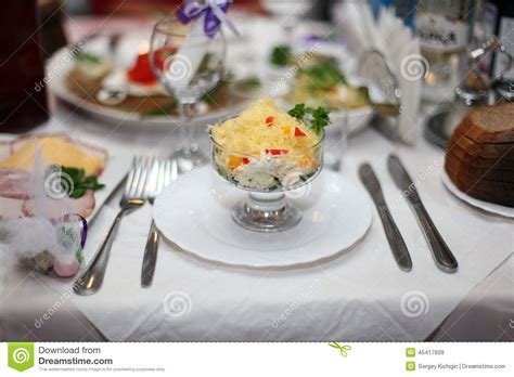 fine dining table set up restaurant table setting banquet stock photo image