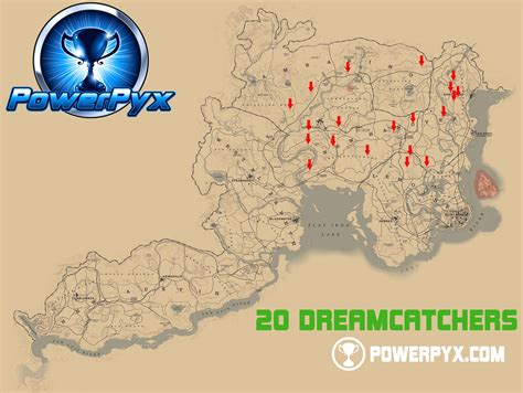 dreamcatcher rdr2 map red dead redemption 2 all dreamcatchers locations