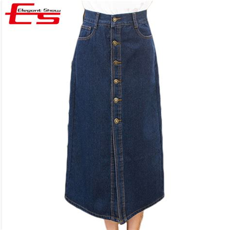 popular blue jean skirts for buy cheap