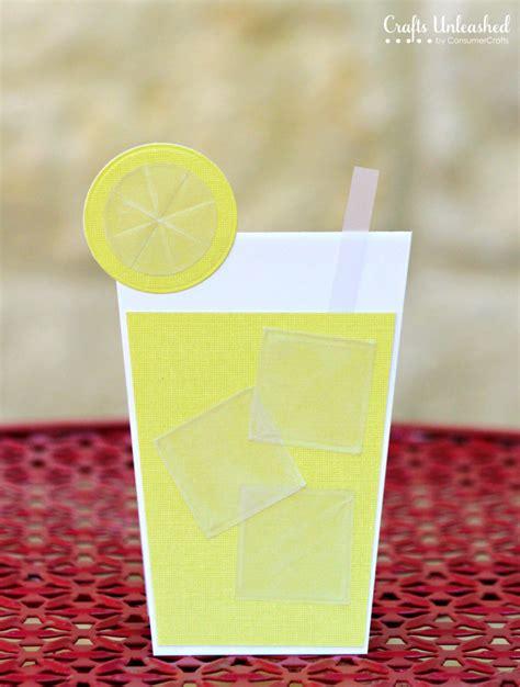 Lemon Handmade Cards - summer card refreshing lemonade card crafts unleashed