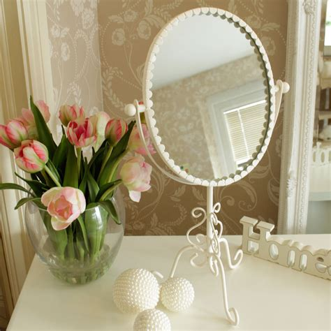 cream bathroom mirror cream oval metal vanity mirror shabby french chic home