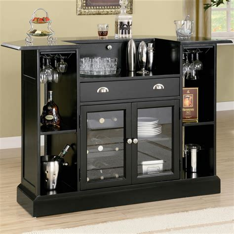 Shop Home Bars Contemporary Home Bar W Wine Rack Stemware Storage Coaster