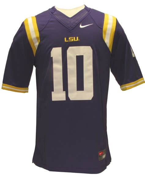 nike lsu tigers purple 10 limited jersey purple and