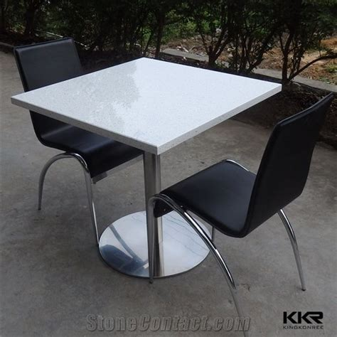 2 person high top table 2 person high glossy scratch resistant quartz table