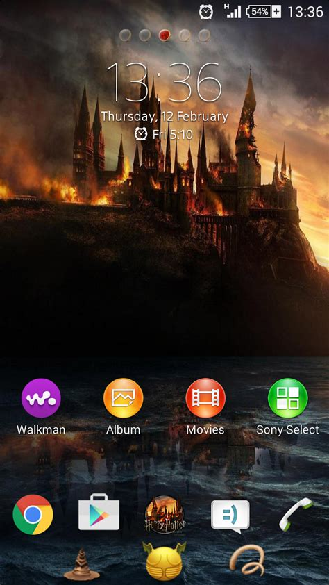 android themes harry potter xperia themes xperia theme harry potter