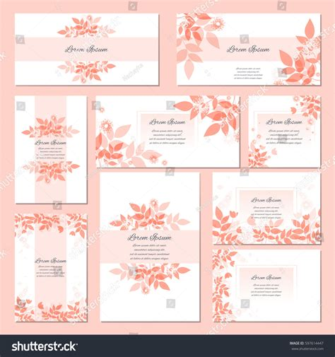 generic birthday card template big set generic invitationsave date templates stock vector