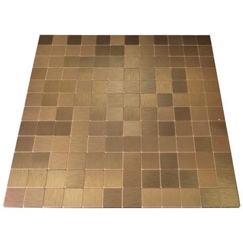 metallic backsplash tiles peel stick peel stick metal tiles for kitchen backsplashes copper