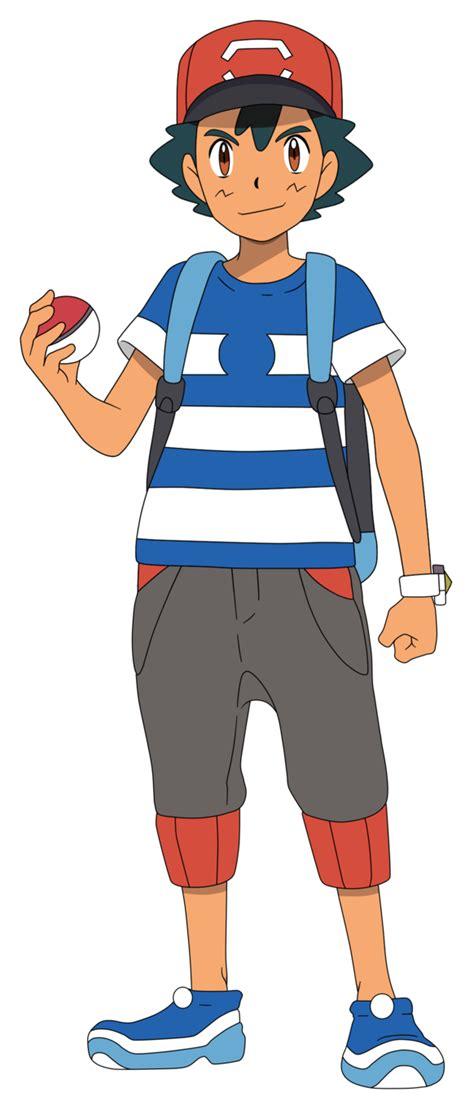 Set Ash Trainer Kid satoshi ash alola render by waito chan ash pok 233 mon and ash ketchum