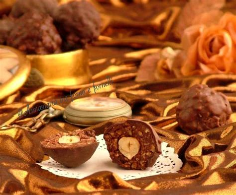 Ricette Cioccolatini Fatti In Casa by Cioccolatini Rocher Fatti In Casa Annamaria Tra Forno E