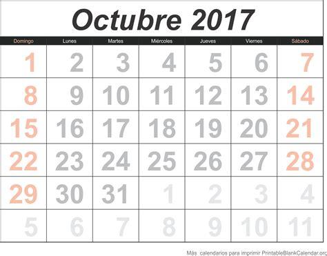 Calendario Gratis Octubre 2017 Calendario Para Imprimir Calendarios Para