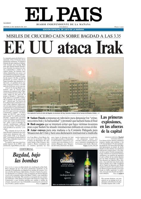 Noticias Sobre Irak El Pa S   portada de el pa 205 s del 20 03 2003