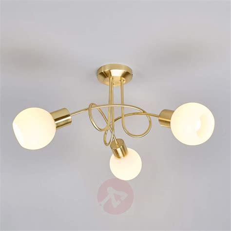 Brass Coloured Led Ceiling Light Elaina 3 Bulb Lights Co Uk Ceiling Lighting Uk
