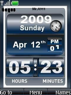 Themes Clock Nokia 6500 | download nokia 6500 slide clock nokia theme mobile toones