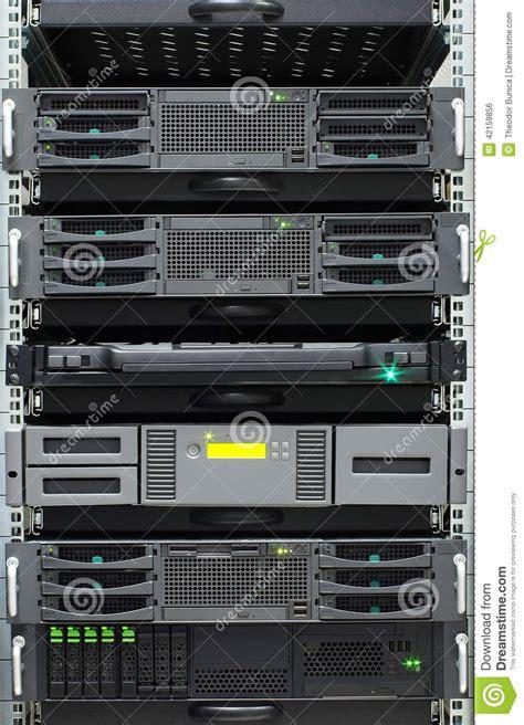 How Many Servers Per Rack by Server Rack Detail Of Servers Rack In A Server Room Stock