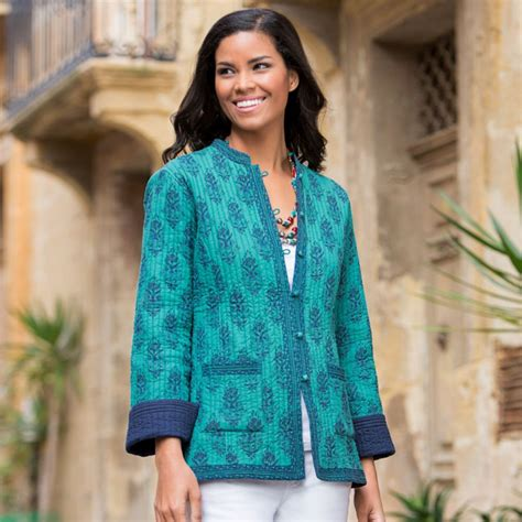 indian pattern hoodies peacock reversible quilted jacket national geographic store