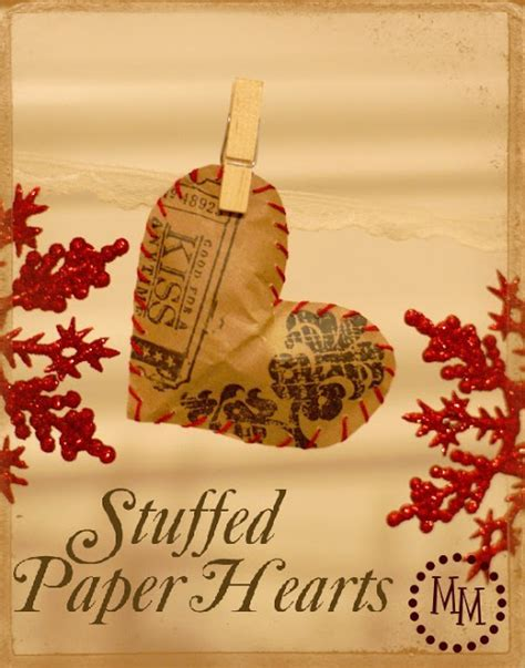 Day Out The Scrap Shoppe - stuffed paper hearts the scrap shoppe