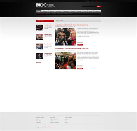 drupal themes live demo boxing drupal template 32834