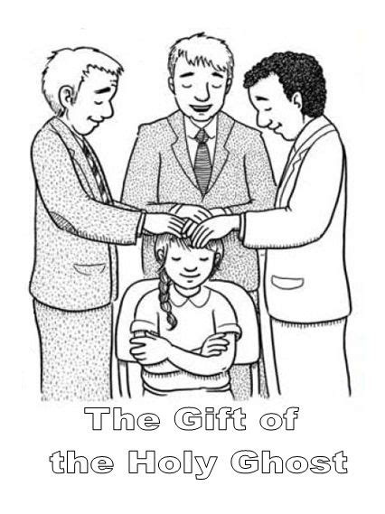 lds coloring pages holy ghost 96 best images about baptism confirmation on pinterest