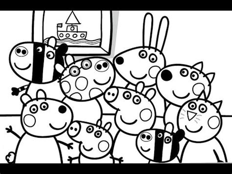 peppa pig and friends coloring pages peppa pig and her friends photo portrait coloring book
